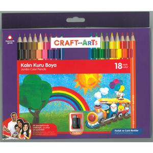 UMIX CRAFT AND ARTS JUMBO KURU BOYA 18'Lİ CAKB-J18