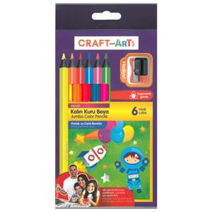 UMIX CRAFT AND ARTS JUMBO NEON KURU BOYA 6'LI CAKB-6N