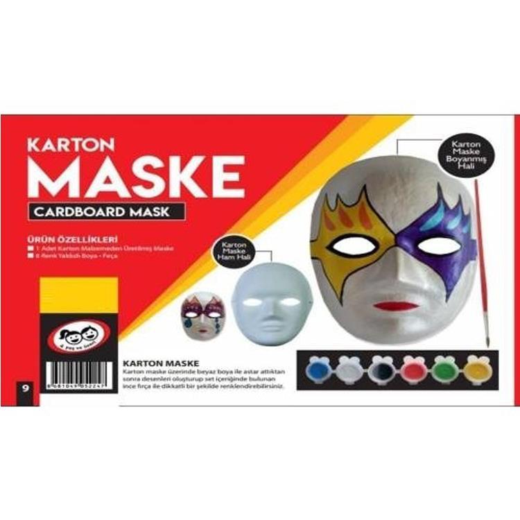 Top 100 Karton Maske Boyama Kolay Boyama