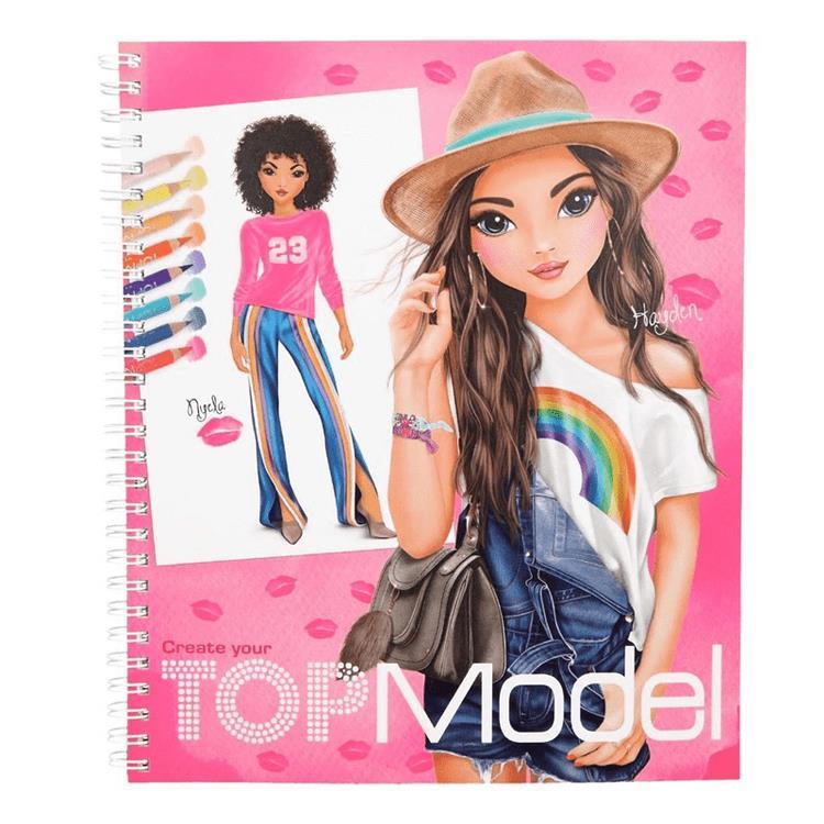 Top Model Tasarim Boyama Kitabi