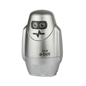 SERVE E-BOT SİLGİLİ KALEMTRAŞ METALİK GRİ