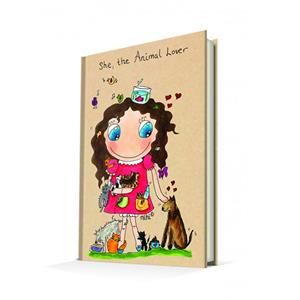 DEFFTER SHE THE ANIMAL LOVER / NİHİ SERT KAPAK A5 ÇİZGİLİ DEFTER 96 YP