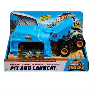 MATTEL GKY01/ GKY03 HOT WHEELS MONSTER TRUCKS FIRLATICILI OYUN SETİ