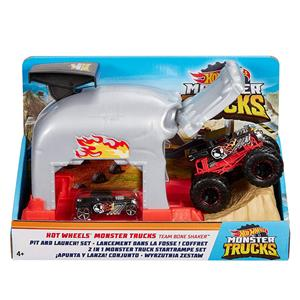 MATTEL GKY01/ GKY02 HOT WHEELS MONSTER TRUCKS FIRLATICILI OYUN SETİ